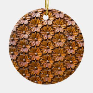 Ornamento De Cerâmica Fundo floral do close up do painel da porta do