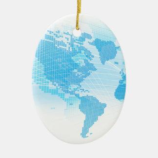 Ornamento De Cerâmica Fundo global do abstrato da terra do mapa do mundo