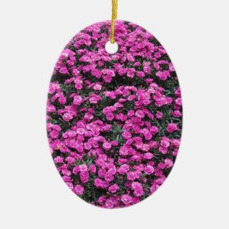 Ornamento De Cerâmica Fundo natural de flores roxas do cravo