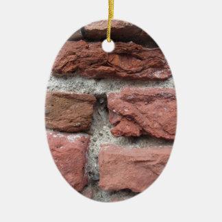 Ornamento De Cerâmica Fundo velho da parede de tijolo