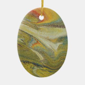 Ornamento De Cerâmica Furacão do arco-íris