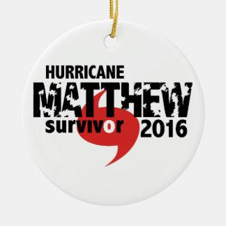 Ornamento De Cerâmica Furacão Matthew sobrevivente outubro de 2016