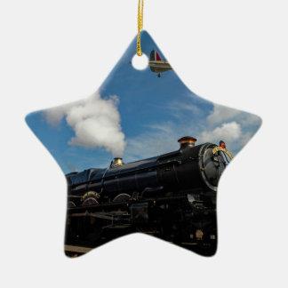 Ornamento De Cerâmica Furacões e trem do vapor