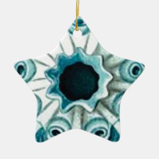 Ornamento De Cerâmica furo e olhos azuis