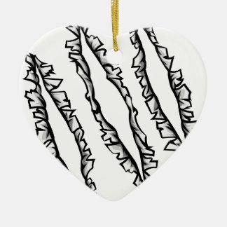 Ornamento De Cerâmica Furos do rasgo da garra do monstro
