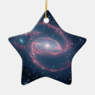Ornamento De Cerâmica Galáxia Coiled de NGC 1097 da noite