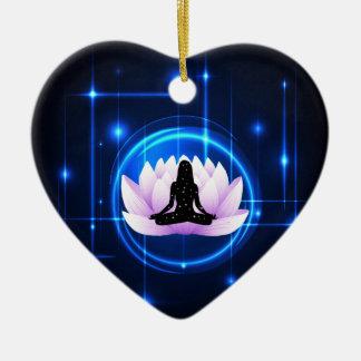 Ornamento De Cerâmica Galáxia da flor de Lotus