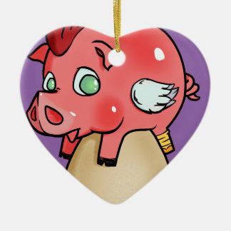 Ornamento De Cerâmica Galinha, porco, Cheeken-Peeg!