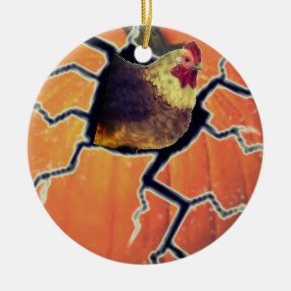 Ornamento De Cerâmica Galo da abóbora