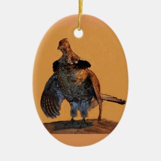 Ornamento De Cerâmica Galo silvestre de Ruffed (Pensilvânia)
