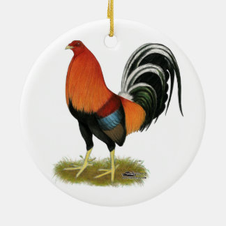 Ornamento De Cerâmica Galo Wheaten do Gamecock