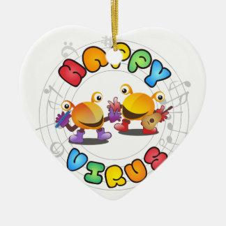 Ornamento De Cerâmica Gama de produtos feliz do vírus