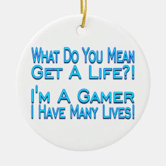 Ornamento De Cerâmica Gamer de muitas vidas