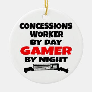 Ornamento De Cerâmica Gamer do trabalhador das concessões