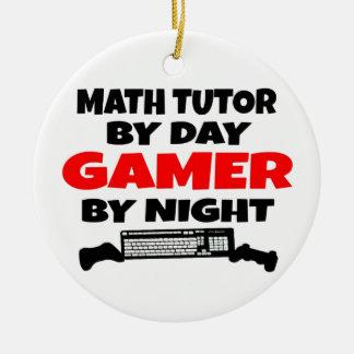 Ornamento De Cerâmica Gamer do tutor da matemática