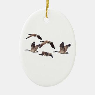 Ornamento De Cerâmica Gansos em vôo