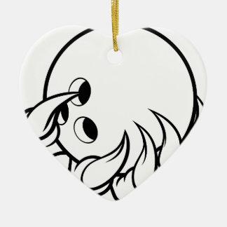 Ornamento De Cerâmica Garra animal do monstro que guardara a bola de