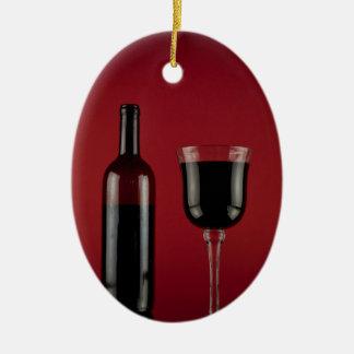 Ornamento De Cerâmica Garrafa de vidro de vermelho de vinho
