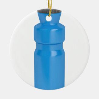Ornamento De Cerâmica Garrafa plástica azul