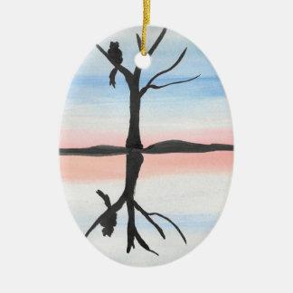 Ornamento De Cerâmica Gatinho refletido