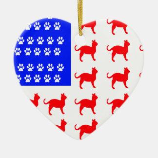 Ornamento De Cerâmica Gato + Bandeira da pata