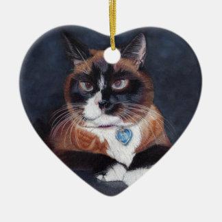Ornamento De Cerâmica Gato bonito