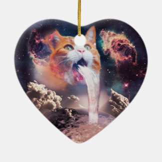 Ornamento De Cerâmica gato da cachoeira - fonte do gato - espace o gato