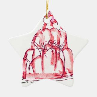 Ornamento De Cerâmica gato da geléia da morango dos fernandes tony