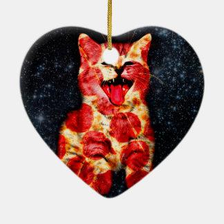 Ornamento De Cerâmica gato da pizza - gatinho - gatinho