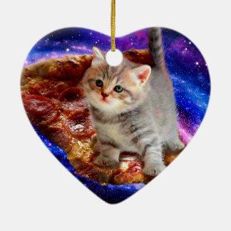 Ornamento De Cerâmica gato da pizza - gatos bonitos - gatinho - gatinhos