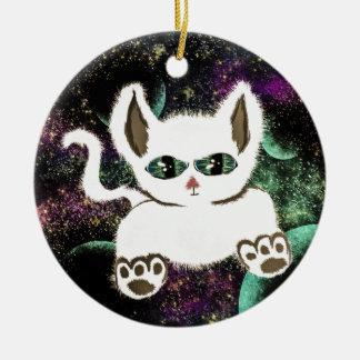 Ornamento De Cerâmica Gato do espaço do vôo