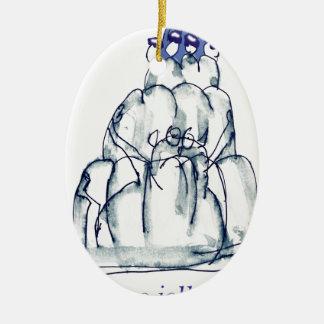 Ornamento De Cerâmica gato do jello da ameixa seca dos fernandes tony