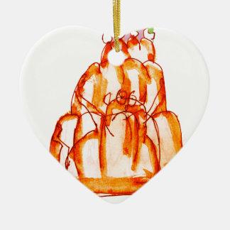 Ornamento De Cerâmica gato do jello do kumquat dos fernandes tony