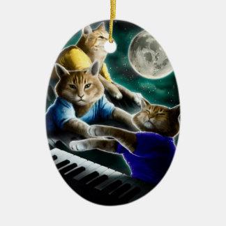 Ornamento De Cerâmica gato do teclado - música do gato - memes do gato