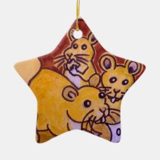 Ornamento De Cerâmica Gato e rato