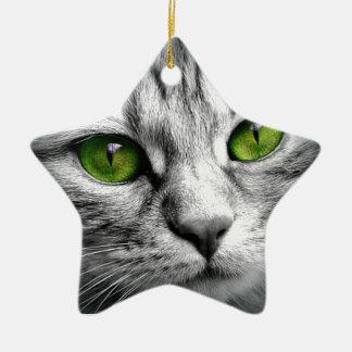 Ornamento De Cerâmica gato eyed verde