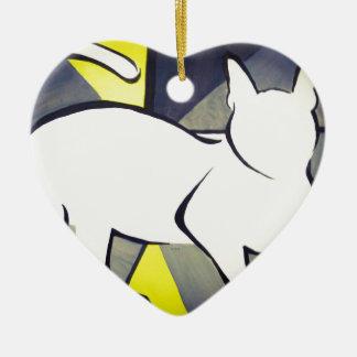 Ornamento De Cerâmica Gato Funky