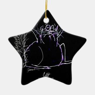 Ornamento De Cerâmica gato mágico