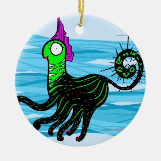 Ornamento De Cerâmica Gato marinho
