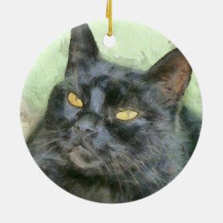 Ornamento De Cerâmica Gato preto