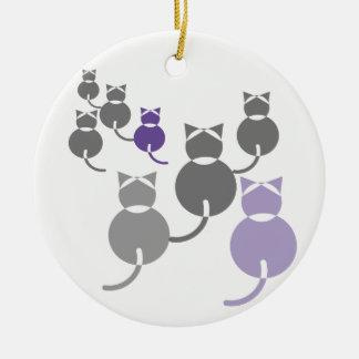 Ornamento De Cerâmica Gatos gordos 2
