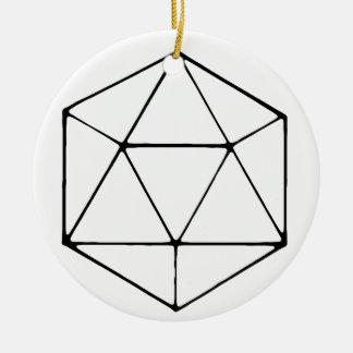 Ornamento De Cerâmica Geek minimalista do Gamer do Tabletop do design