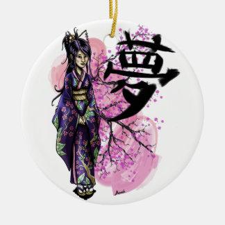 Ornamento De Cerâmica Geisha