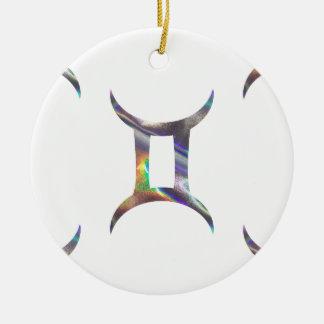 Ornamento De Cerâmica Gêmeos do holograma