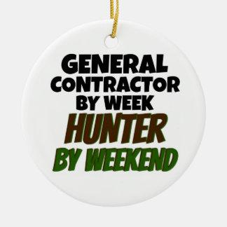 Ornamento De Cerâmica General Contratante pelo caçador da semana em o