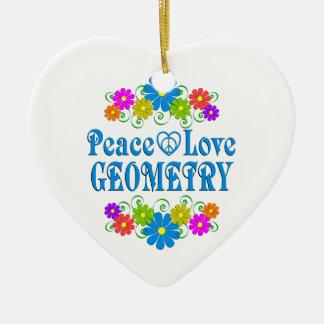 Ornamento De Cerâmica Geometria do amor da paz
