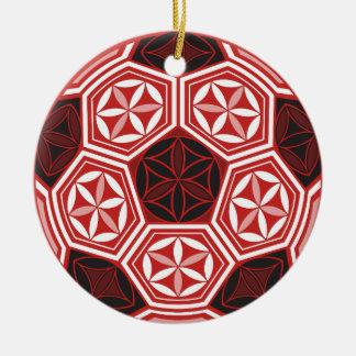 Ornamento De Cerâmica geometria sagrado do futebol