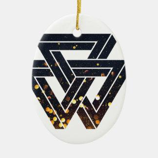 Ornamento De Cerâmica Geometria solar impossível 1