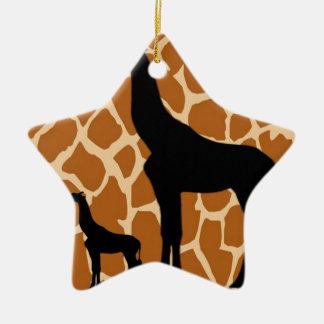 Ornamento De Cerâmica Girafa