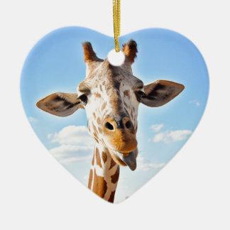 Ornamento De Cerâmica Girafa parvo